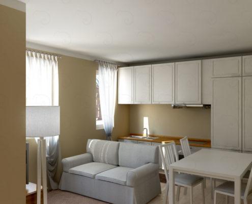 soggiorno-vista-cucina-495x400 Portfolio %SmartRelooking