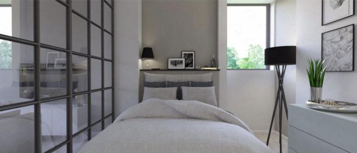 LIVING-vista-4b-ipotesi-con-struttura-divisoria-705x302 Double Bed Rooms %SmartRelooking
