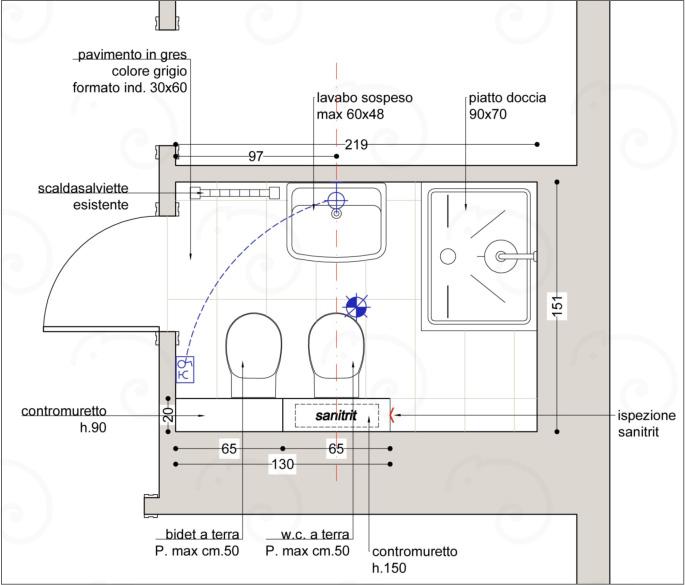 Planimetria-Bagno-Grande BathRooms %SmartRelooking